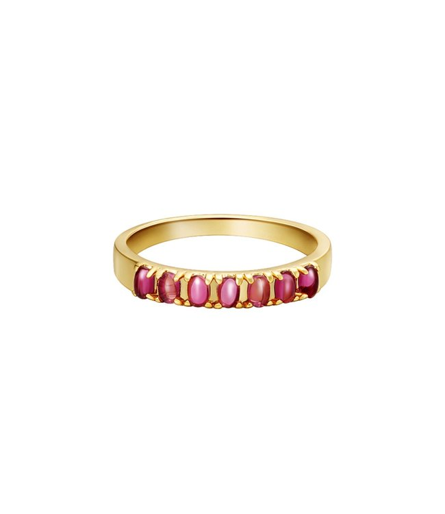 Colored Row Ring