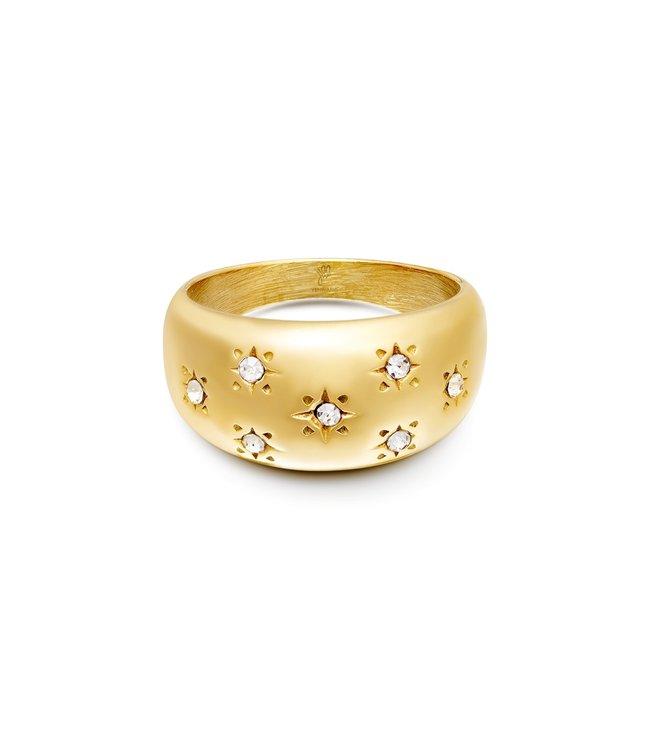 Diamond Flowers Ring