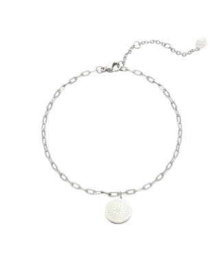 Silver Chasing the Sun Anklet