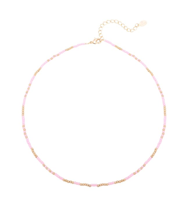 Mystic Beads Necklace / Pink