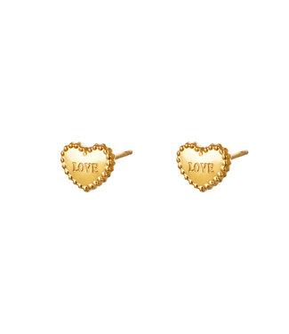 Loving Hearts Stud Earrings