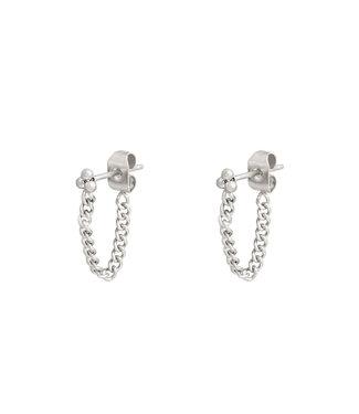 Dots Chain Stud Earrings