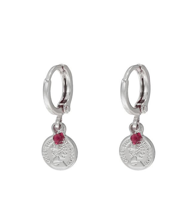 Silver Little Queen Earrings