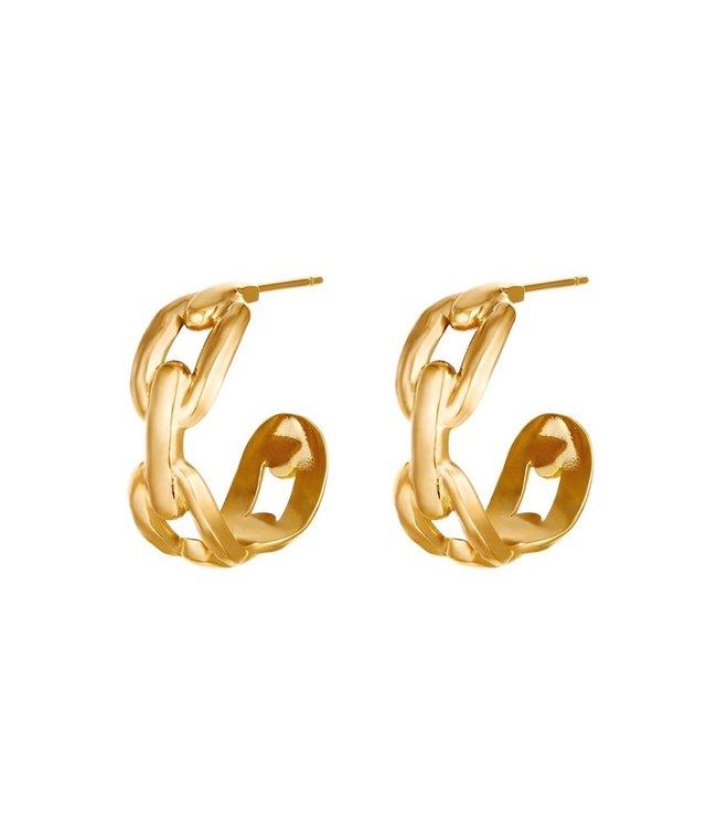 Oval Chain Earrings
