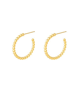 Big Dotted Hoop Earrings