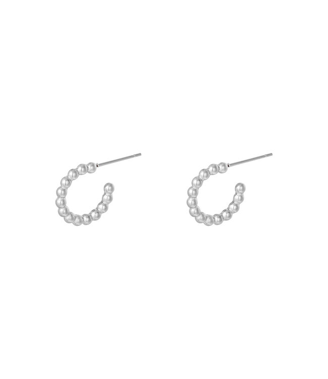Small Dotted Hoop Earrings