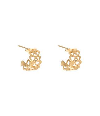 Bonded Hearts Earrings