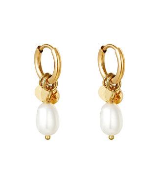 Gold Pearl Drops Earrings