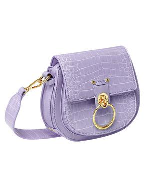 Croco Buckle Bag / Lilac