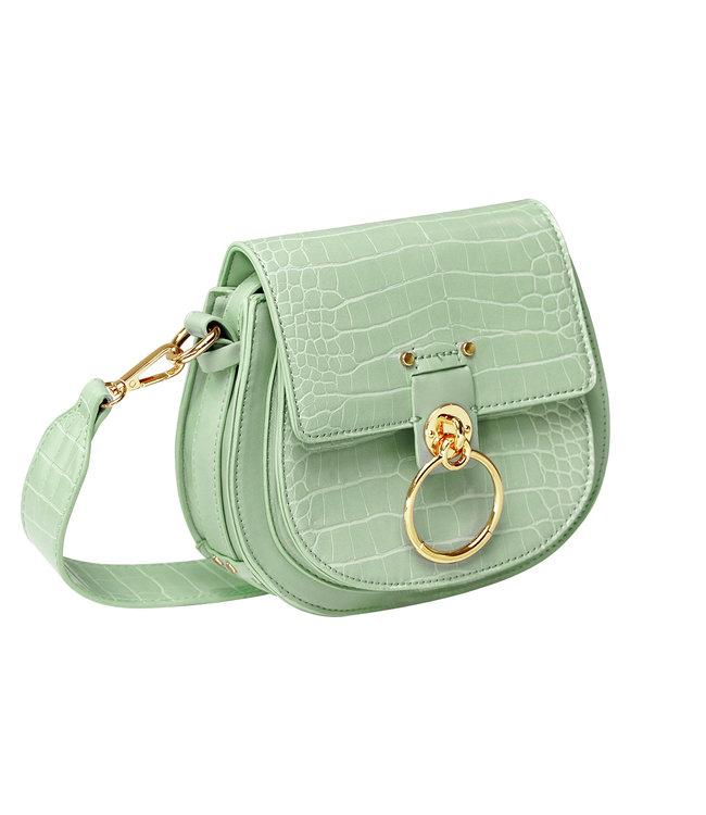 Croco Buckle Bag / Green