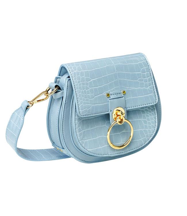 Croco Buckle Bag / Blue