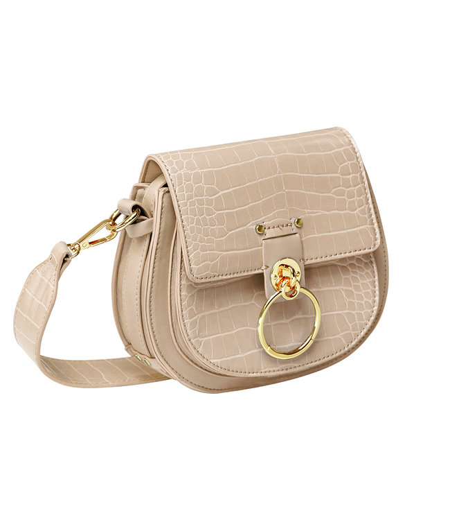 Croco Buckle Bag / Beige