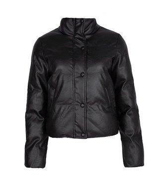 Lux Leather Bomber Jacket