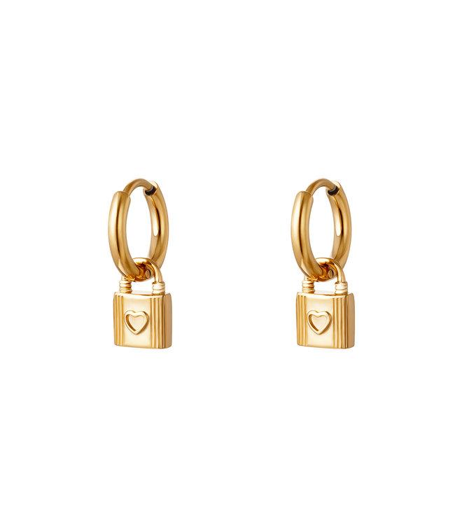 Lovely Lock Earrings