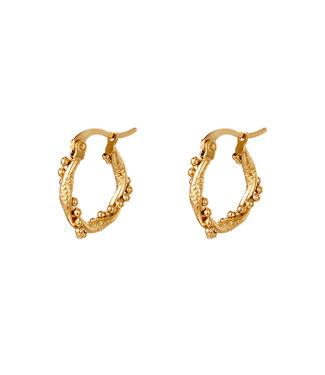 Turned Hoop Earrings