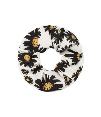 Daisy Flower Scrunchie / White