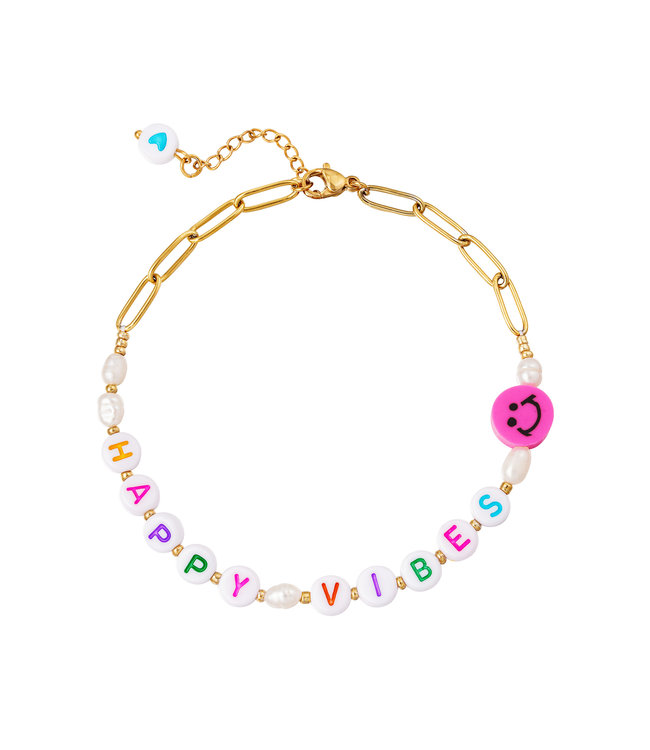 Happy Vibes Anklet
