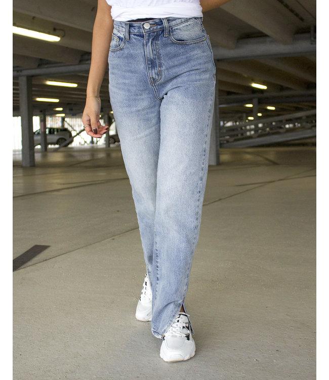 Split Mom Jeans Petite