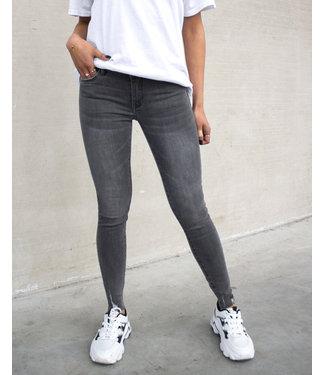 Queen Hearts Skinny Jeans / Grey