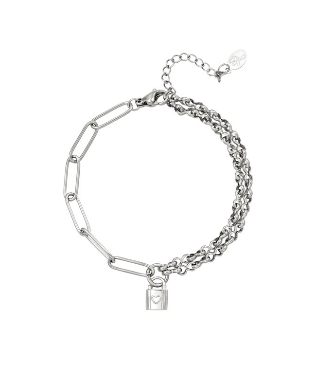 Chained Lock Bracelet