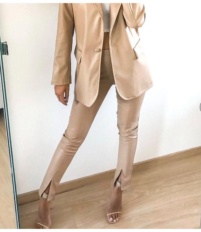 Front Split Pants / Beige