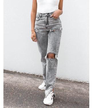 Ripped Split Jeans