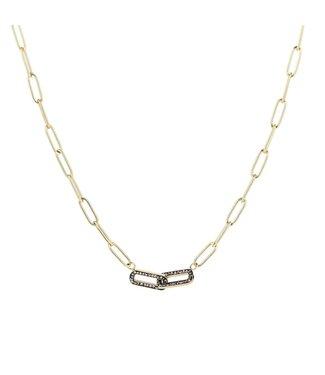 Shiny Chain Necklace / Black