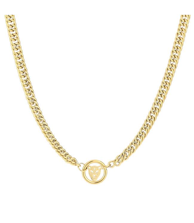 Leopard Circle Necklace