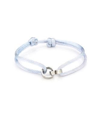 Satin Heart Rings Bracelet