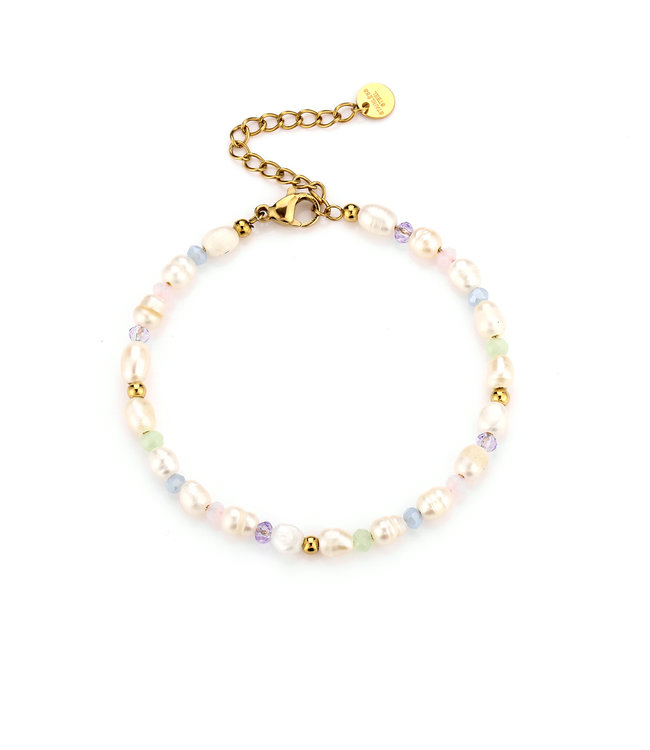Colorful Pearl Beads Bracelet