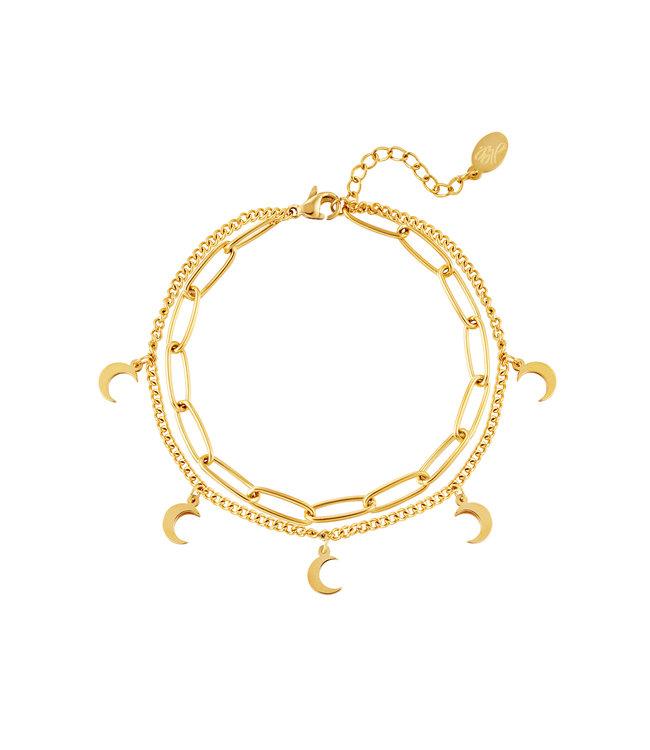 Double Moon Bracelet