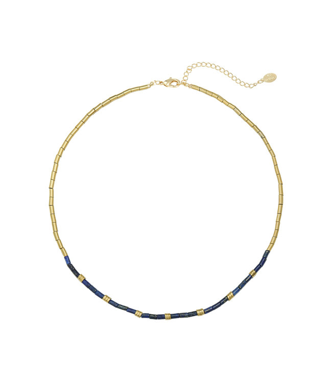 Taj Mahal Necklace / Dark Blue