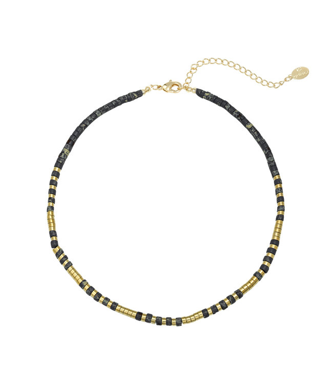 Power to the Stone Necklace / Black