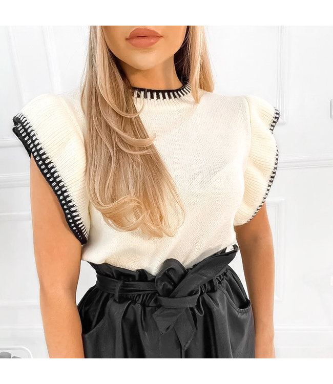 Zara Knitted Top / Off White