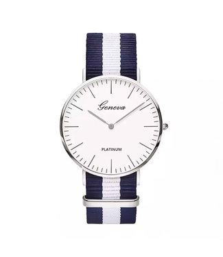 Striped Band Horloge / Dark Blue