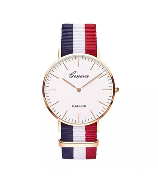 Striped Band Horloge / French