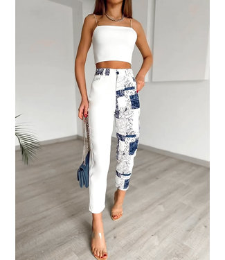 Printed Style Jeans