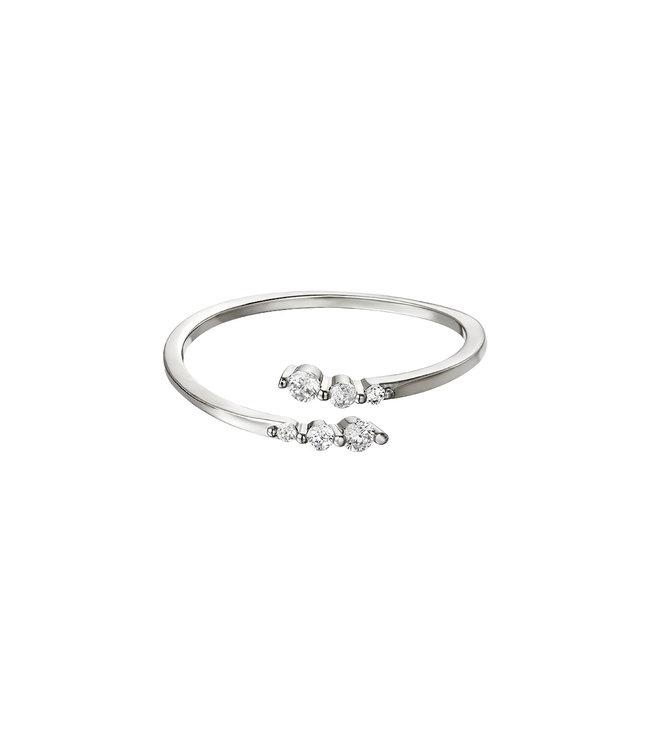 Silver Sparkling Twist Ring