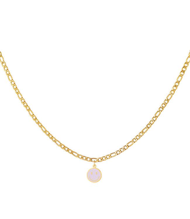Pastel Smiley Necklace