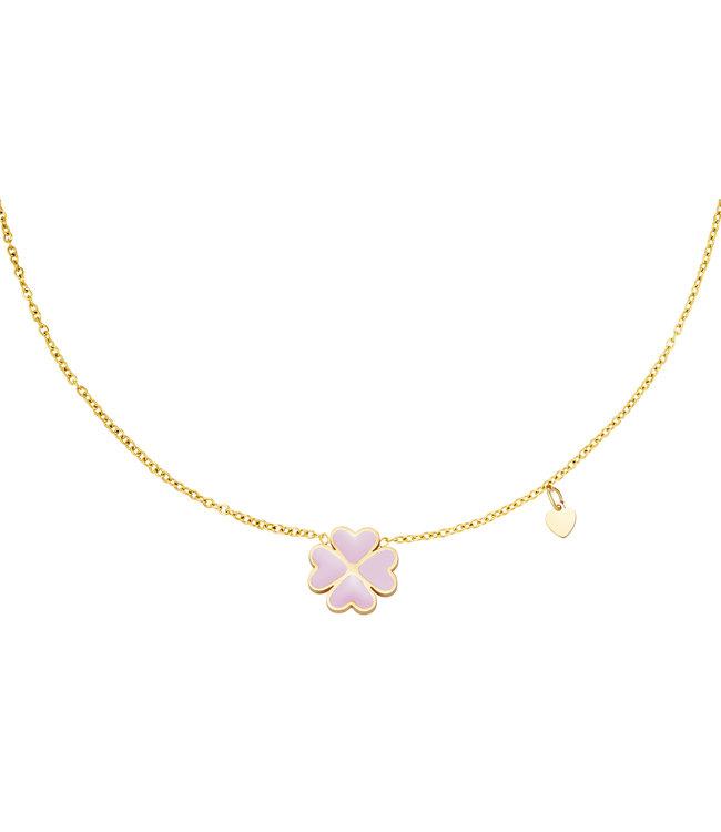 Pastel Clover Necklace