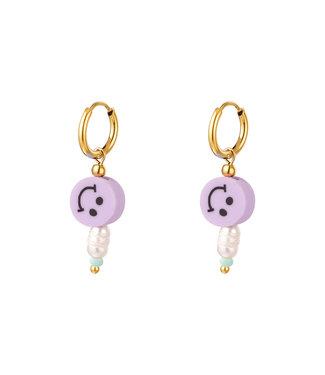 Smiley Pearl Earrings