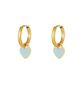 Pastel Heart Earrings