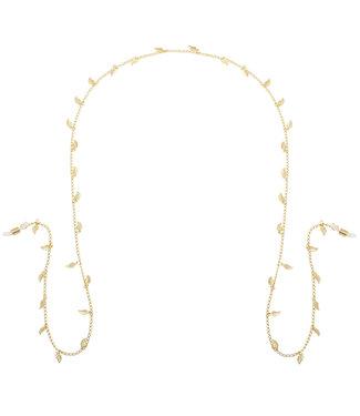 Gold Happy Leaf Sunglasses Cord