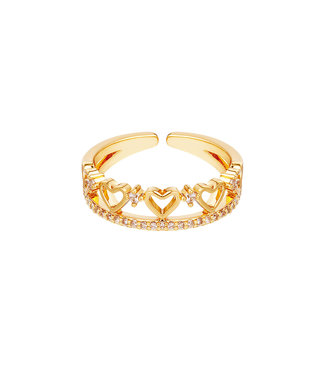Multiple Hearts Ring