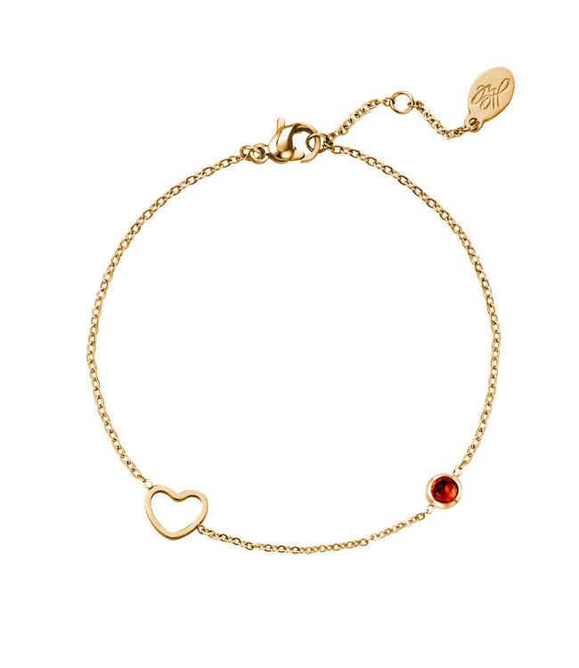 Gold Birthstone Bracelet