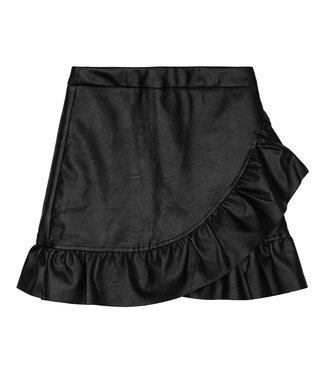 Leather Ruffle Skirt