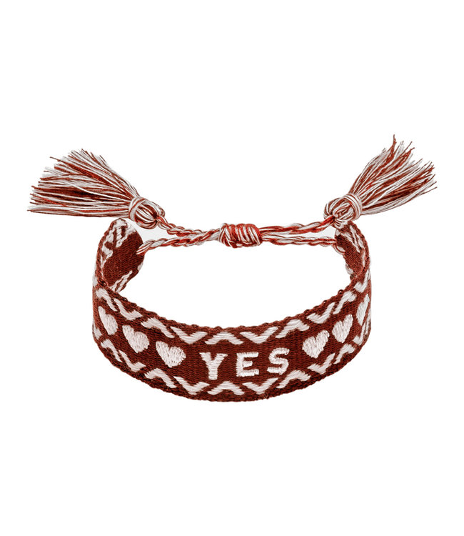 Woven Yes Bracelet