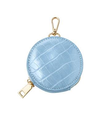 Croco Round Wallet / Blue
