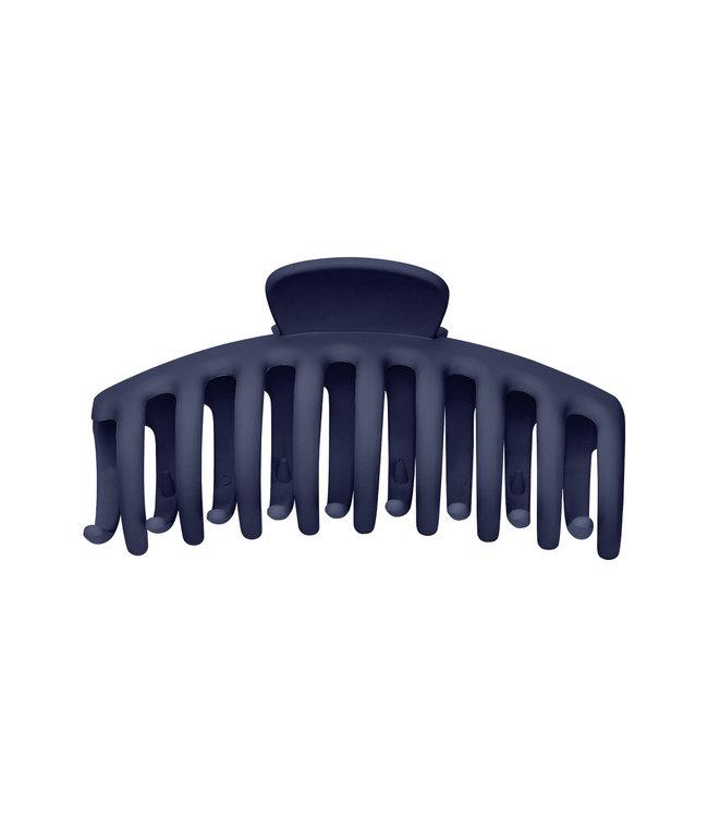 Matt Hair Clip / Dark Blue