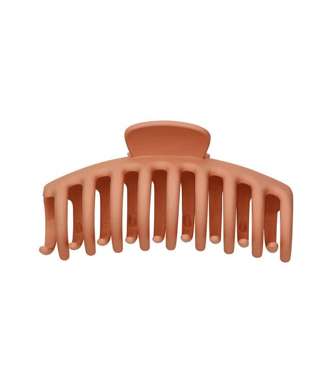 Matt Hair Clip / Rusty Brown